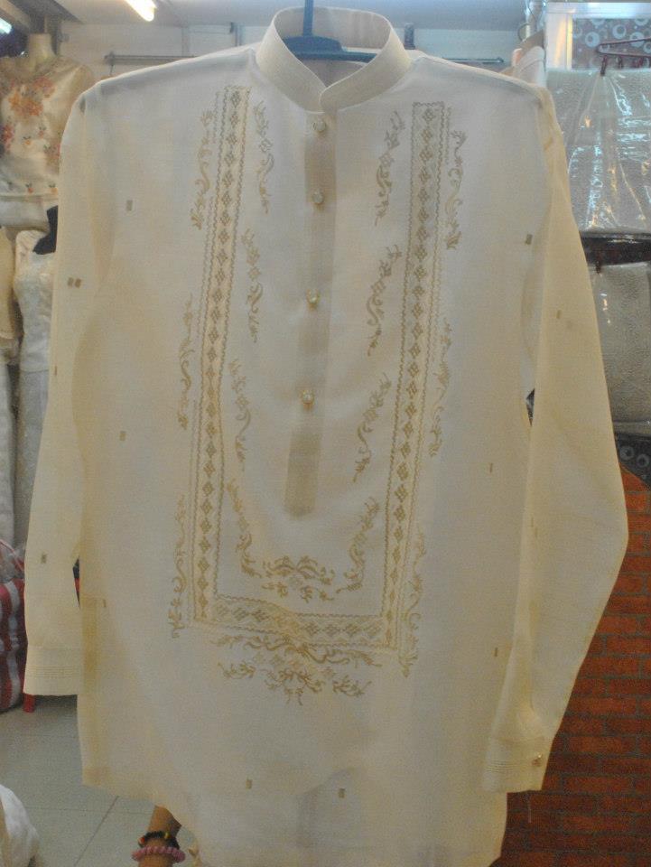 Barong Tagalog In Pina Jusi Fabric Jannamoda Garments